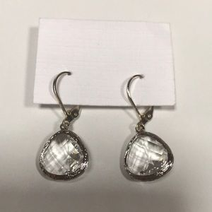 Jewelry - Clear Crystal Drop Earrings